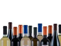 Flessen wijn Royalty-vrije Stock Afbeeldingen