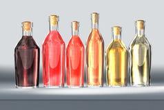Flessen wijn Royalty-vrije Stock Foto