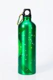 Flessen witte achtergrond Stock Afbeeldingen