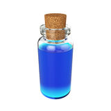 Flessendrankje op Witte Achtergrond, het 3D teruggeven wordt geïsoleerd die Stock Foto's