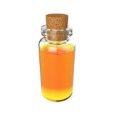Flessendrankje op Witte Achtergrond, het 3D teruggeven wordt geïsoleerd die Royalty-vrije Stock Foto