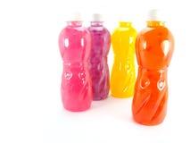 Flessensap op witte achtergrond Stock Foto