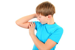 Flessione di muscolo del bambino Fotografia Stock