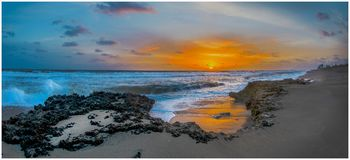 Fletcher Beach Sunrise Fotografia Stock