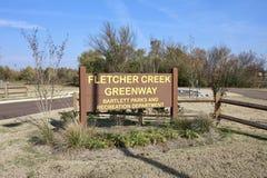 Fletcher Creek Greenway Bartlett, Tennessee Arkivbild