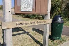 Fletcher Creek Greenway Park Bartlett, Tennessee Royaltyfri Bild