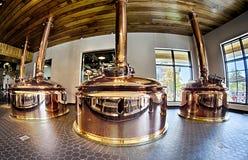 FLETCHER NC Oktober 15, 2016 - toppig bergskedja Nevada Brewery på soligt D Royaltyfria Bilder