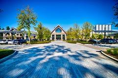 FLETCHER, NC 15 ottobre 2016 - sierra Nevada Brewery sulla d soleggiata fotografia stock