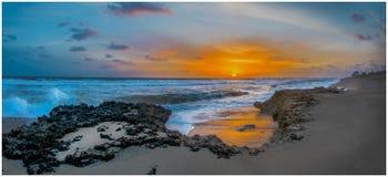 Fletcher plaży wschód słońca fotografia stock