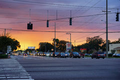 Fletcher street, Tampa Royalty Free Stock Images