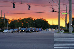 Fletcher street, Tampa Royalty Free Stock Photography