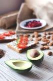Fletley da alimento sano sano e immagini stock
