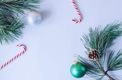 Fletley de nouvelle année sur un fond gris images stock