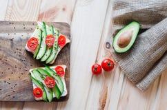 Fletley van gezond en gezond voedsel royalty-vrije stock foto