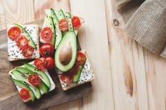 Fletley van gezond en gezond voedsel stock foto's