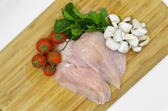 Fleto fresco e limpo do corte do peito de frango imagem de stock