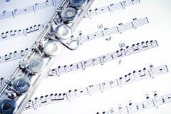 fletowa muzyka Fotografia Royalty Free