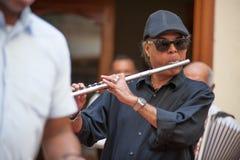 Fletowy gracz w Hawańskim Kuba Zdjęcie Royalty Free