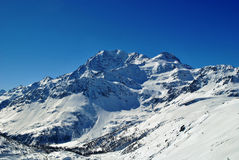 Fletschhorn. From spitzhornli during winter Royalty Free Stock Photography
