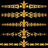 fleur χρυσό lis de dividers διανυσματική απεικόνιση