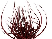 Fleur 3D/vignes rouges abstraites illustration stock
