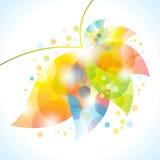 Fleur abstraite colorée Photos libres de droits