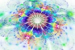 Fleur abstraite d'arc-en-ciel sur le fond blanc Images stock