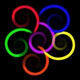 Fleur abstraite dans six couleurs Photographie stock libre de droits