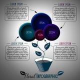 Fleur abstraite dans un pot Conception de vecteur pour infographic ou autre Illustration Libre de Droits
