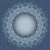 Fleur abstraite de jeans Photographie stock libre de droits