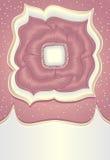 Fleur abstraite de rose de griffonnage avec de l'argent d'or Photos libres de droits