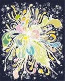 Fleur abstraite foncée Image libre de droits