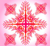 Fleur abstraite rose illustration stock