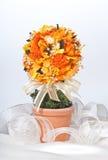 Fleur artificielle dans le bac Photographie stock libre de droits