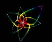 Fleur au néon Images libres de droits