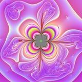 Fleur au néon Photographie stock libre de droits