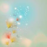 Fleur avec l'effet de bokeh Photo stock