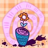 Fleur avec l'ombre de diable Image libre de droits