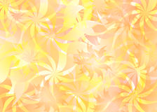 Fleur background. 2d flowers background layered simple illustration Vector Illustration