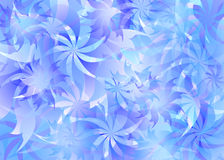 Fleur background. 2d flowers background layered simple illustration Stock Illustration
