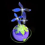 Fleur - batterie solaire Photos stock