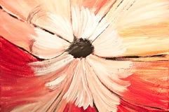 Fleur blanche sur le fond rouge Images stock