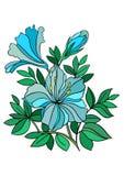 Fleur bleue abstraite Illustration Stock