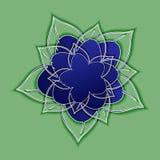 Fleur bleue Art de papier Photographie stock libre de droits
