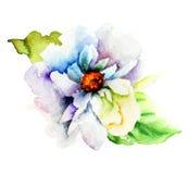 Fleur bleue décorative Images stock