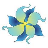 Fleur bleue décorative Image libre de droits
