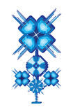 Fleur bleue d'isolement Photo stock