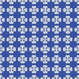 Fleur bleue rayée Photographie stock