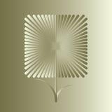 Fleur carrée d'or Image stock