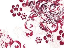 Fleur chinoise de fleur Photos stock